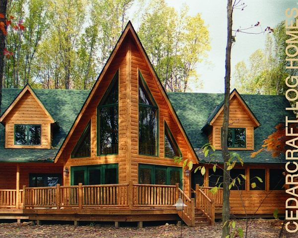 White cedar log homes